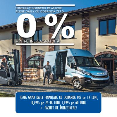 De la ETC ai Iveco Daily cu dobanda 0% si intretinere gratuita!